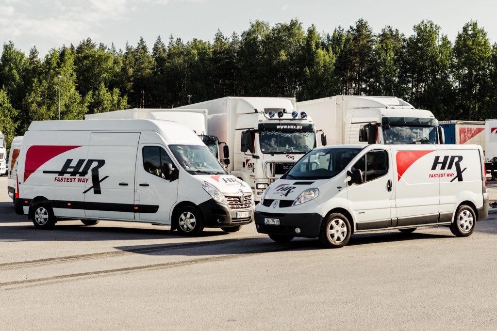 Uzņēmuma HRX autoparks starptautiskajiem pārvadājumiem Eiropā